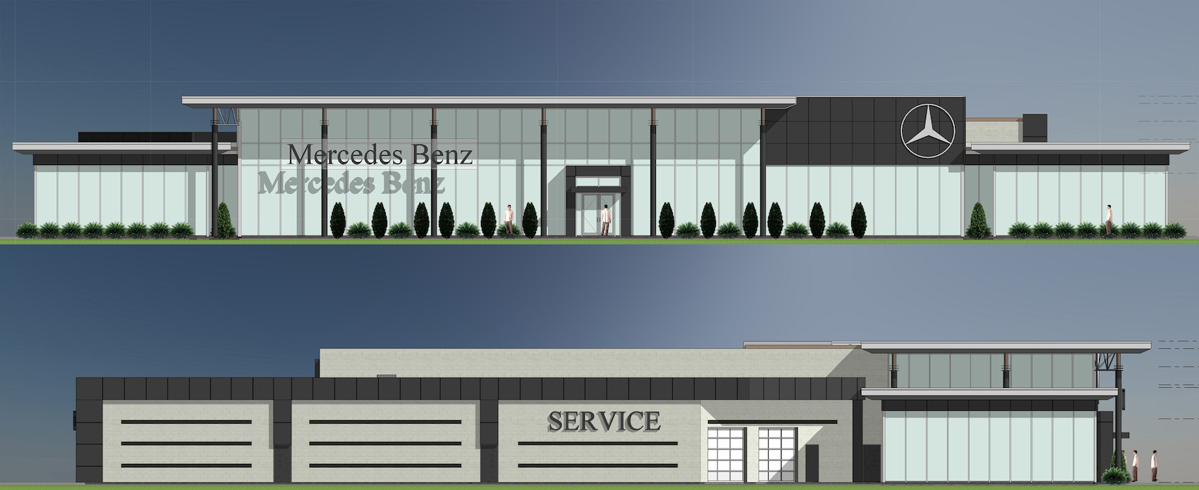 Mercedes benz barrie car dealership renovation s r for Mercedes benz dealers in michigan